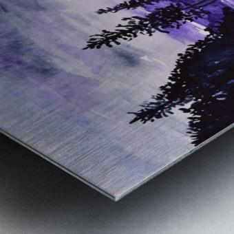 Sunrise Reflection at Second Beach Metal print