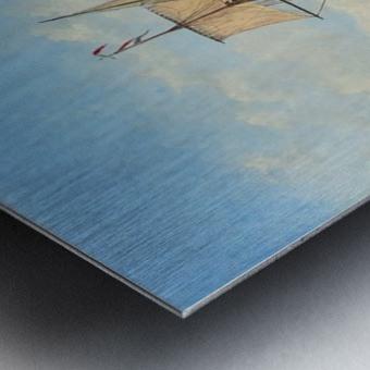 Shipping in a Flat Calm off the Dutch coast Metal print