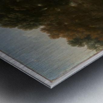 A few people in a lagoon Metal print
