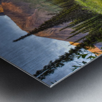Reflection Of Skookum Volcano Metal print