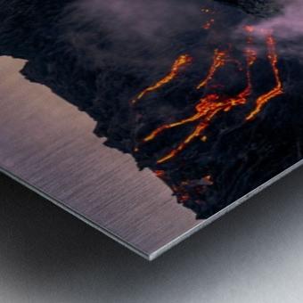 Sunrise at the lava flow Metal print