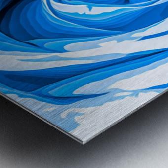 closeup blue rose texture abstract background Metal print