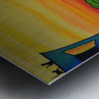 Lane in Languedoc Metal print