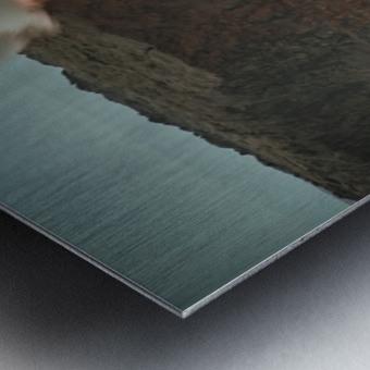 Lava Entering the Ocean Metal print
