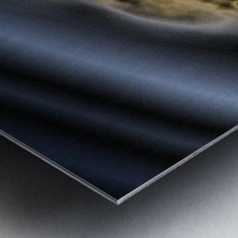 aerial view of planet citrrus rings Metal print