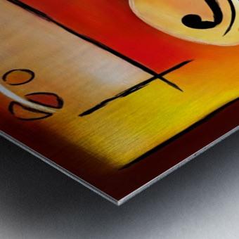 Vioselinna - violin backed beauty Metal print