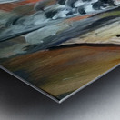 abstact canvas acrylic  Impression metal