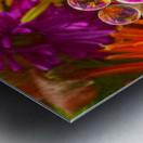 FLOWERS REFRACTION 10 Metal print