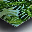 Watercolor leaves tropical I Metal print