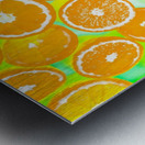 juicy orange pattern abstract with yellow and green background Metal print