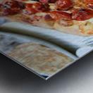 Pizza dans le Jardin de Nelson Metal print