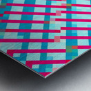 geometric pixel square pattern abstract background in blue pink Metal print