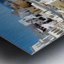 Super panoramic view - Santorini - Greece Metal print