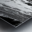 Beach Rocks Black and White II Metal print