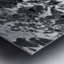 The Beach - Ocean waves in Black and White Metal print