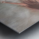 A strong girl  Metal print