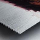 Agate Minimalist Abstract Canvas Painting Metal Artwork Metal print