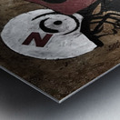 Gridiron Nebraska Football Cornhusker Artwork Metal print