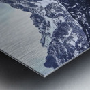 Mountains in the Lake Metal print