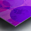 geometric circle and triangle pattern abstract in pink purple Metal print