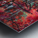 Beautiful Red Fall Foliage Metal print