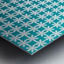 Floral Gradient Seamless Pattern Artwork Metal print