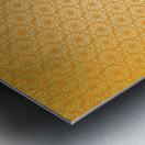 Orange Seamless Pattern Art Metal print