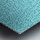 Islamic Blue Art  Metal print