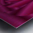 Pink Color Rose Swirl Art Metal print