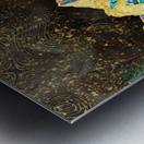 Gold Turquoise Mountain - Illustration I Metal print