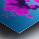 Vivid Purple Cloudscape Metal print