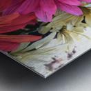 Rainbow of flowers Metal print