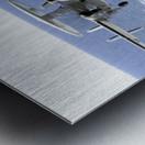An E-2C Hawkeye makes its approach to the flight deck of USS Dwight D. Eisenhower. Metal print
