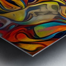 Seashell Colorful Pattern Metal print