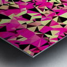 geometric triangle pattern abstract in pink and black Metal print