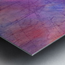 Abstract Mauve wave Metal print