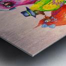 Cheerful company Metal print
