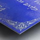 Psalm 29 2 5BL Metal print