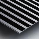 Black & White Stripes with Aquamarine Patch Metal print