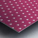 Fuchsia Rose Heart Shape Pattern Metal print