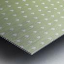 Kids Green Heart Shape Pattern Metal print