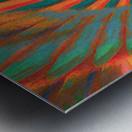 Composition in Orange Blue & Green Metal print