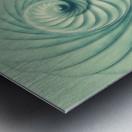 Composition in Celadon Metal print