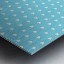 Sky Blue Heart Shape Pattern Metal print