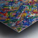 BLUE WORLD II Metal print