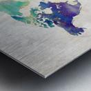 Artistic World Map II Metal print