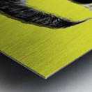 Yellow Freddie Mercury Metal print