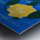 Yellow flowers in vase  Metal print