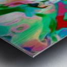 Waterfall vertical - multicolor abstract swirls Metal print