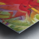 Fighting forms by Franz Marc Metal print